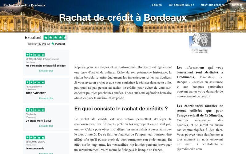Rachat de crédit à Bordeaux